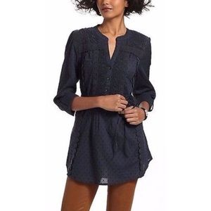 Anthropologie Leifnotes swiss dot lace tunic